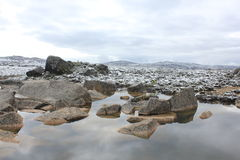 glacier alpin et eau images libres de droits