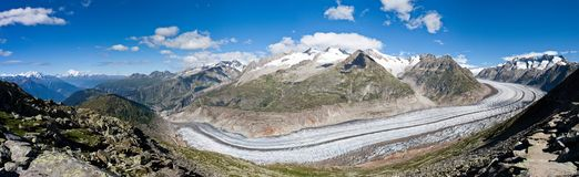 Glacier in the Alps Stock Photo