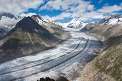 Glacier in the Alps Royalty Free Stock Image