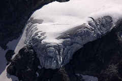 Glacier. In the Alps in Switzerland royalty free stock image