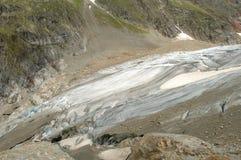Glacier in Alps in Switzerland Stock Photo