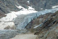 Glacier in Alps in Switzerland Stock Image