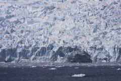 Glacier in Antarctica. Calving Glacier in Paradise Bay, Antarctica stock photo