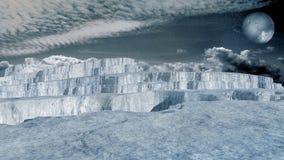 Glacier in an arctic region Royalty Free Stock Photos