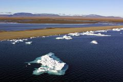 Glacier arctique Photographie stock libre de droits