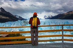 Glacier in Argentina Stock Photography