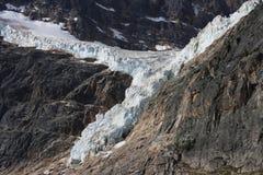 Glacier au champ de glace de Colombie Images libres de droits