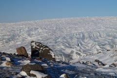Glacier au Groenland Images libres de droits
