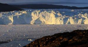 Glacier au Groenland 1 Photographie stock libre de droits