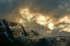 Glacier in austrian alps Stock Photo