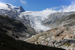 Glacier in the Austrian Alps in summer Royalty Free Stock Images