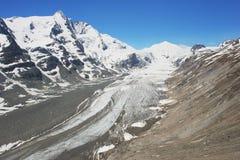Glacier in the Austrian Alps. View of the alpine glacier in the Austrian Alps Royalty Free Stock Photo