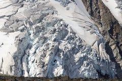 Glacier avec des crevasses chez Grossvenediger, Alpes de Hohe Tauern, Autriche Photographie stock