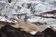 Glacier avec le lac avec des icebergs, Islande Image stock