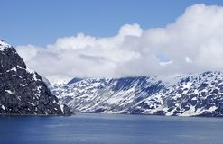 Glacier Bay. The view of Glacier Bay national park, Alaska Royalty Free Stock Images