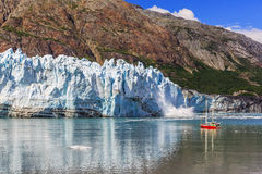 Glacier Bay, Alaska. Ice calving at Margerie Glacier in Glacier Bay National Park stock photo