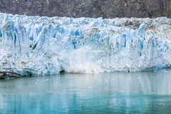 Glacier Bay, Alaska. Ice calving at Margerie Glacier in Glacier Bay National Park Royalty Free Stock Image