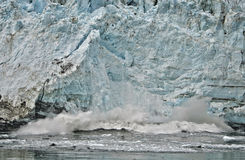 Glacier Bay Calving Glacier, Alaska Royalty Free Stock Photography