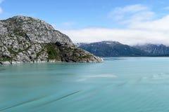 Glacier Bay. Cloud covered mountains of Glacier Bay National Park, Alaska Stock Images