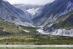 Glacier Bay-Landschaft Stockfotos