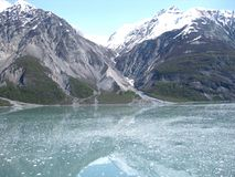 Glacier Bay National Park. Amazing scenes whilst sailing on an Alaskan cruise Royalty Free Stock Photo