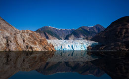 Glacier bay in a sunny day. In Alaska Stock Photos