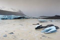 Glacier in bay Stock Photos