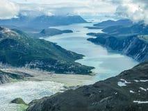 Glacier Bay NP. Aerial view of Glacier Bay National Park, Alaska, U.S, America stock photo