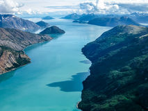 Glacier Bay Alaska. Aerial view of Glacier Bay National Park, Alaska, U.S, America Royalty Free Stock Photography
