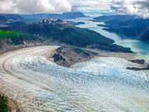 Glacier bay : where the glacier meets the sea Royalty Free Stock Image