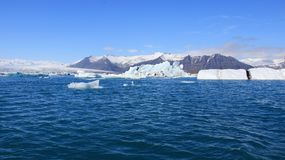 Glacier beauty of nature amazing panorama view with blue sky background royalty free stock photo