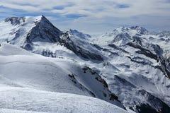 Glacier, Bellecote, Plagne Centre, Winter landscape in the ski resort of La Plagne, France Stock Photography