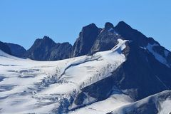 Glacier with big crevasses Stock Image