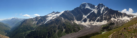 Glacier the Big seven on caucasus Stock Photos