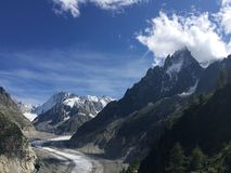 Glacier blanc. Glacier at chamanix Stock Image