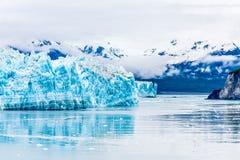 Glacier bleu de Hubbard Image stock