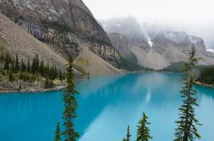 Glacier blue water of the Morain Lake 3 stock photos