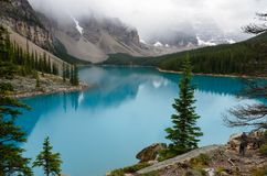 Glacier blue water of the Morain Lake 9 stock image