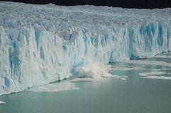 Glacier Breaking due to Climate Change Royalty Free Stock Images