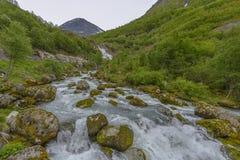 Glacier Briksda, Norvège de parc national image stock