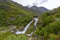 Glacier Briksda, Norvège de parc national photographie stock libre de droits