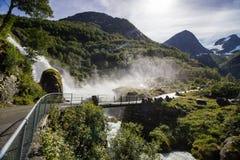 glacier briksdal Norvège Image stock