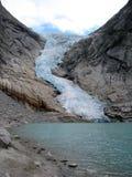 Glacier Briksdal. View on Glacier Briksdal, Norway stock photography