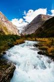 Glacier Briksdalsbreen en Norvège image stock