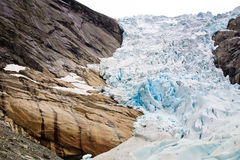 Glacier Briksdalsbreen in Norway Royalty Free Stock Photo