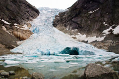 Glacier Briksdalsbreen in Norway Royalty Free Stock Image