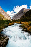 Glacier Briksdalsbreen in Norway Stock Image