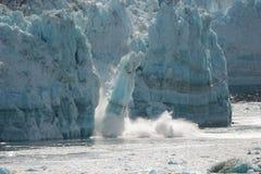 Glacier Calving. Falling ice Stock Photo