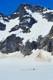Glacier camp Stock Images