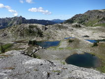 Glacier carved tarns Stock Photo